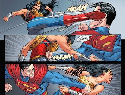 Wonder Woman kicks