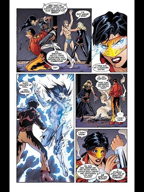 Wonder Woman creates lightning for her bracelets