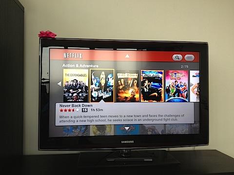 Wii interface for Netflix