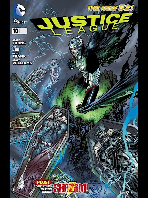 The cover of Justice League 10