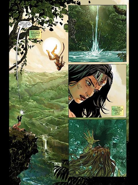 Wonder Woman disposes of the Cheetah