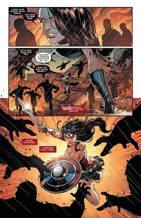 Wonder Woman attacks
