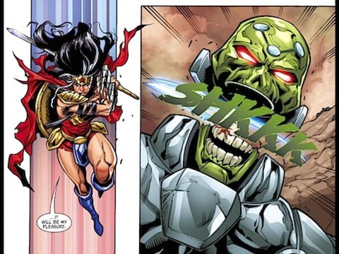 Wonder Woman kills Brainiac