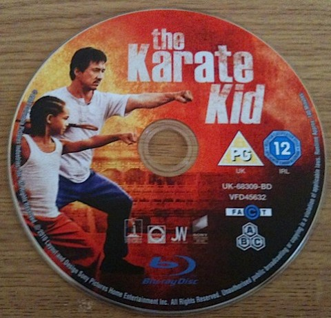 The Karate Kid Blu-Ray disc