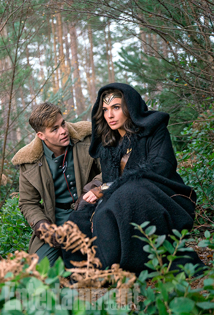 Gal Gadot and Chris Pine in Wonder Woman