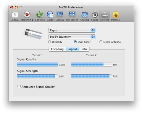 New signal strengths