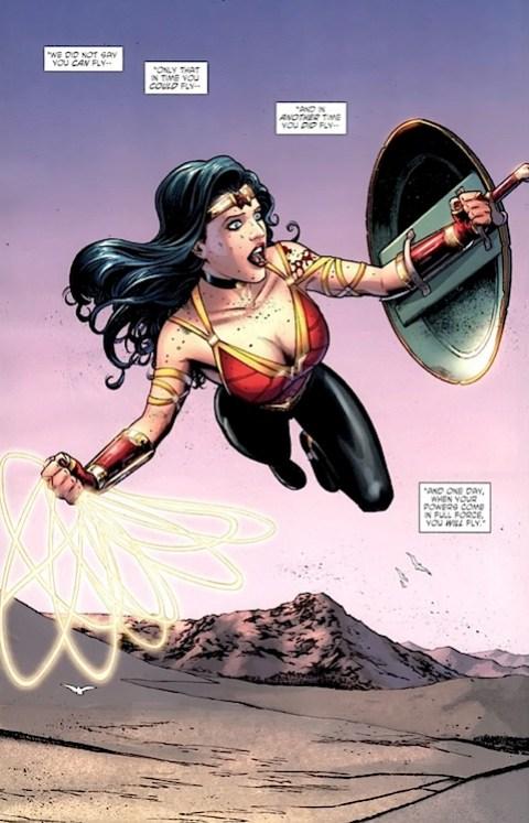 Wonder Woman flying