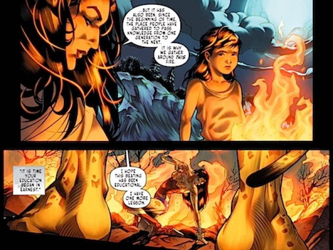 Hippolyta continues to explain the importance of fire
