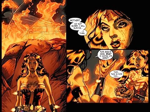 Hippolyta arrives as Golden Age Wonder Woman