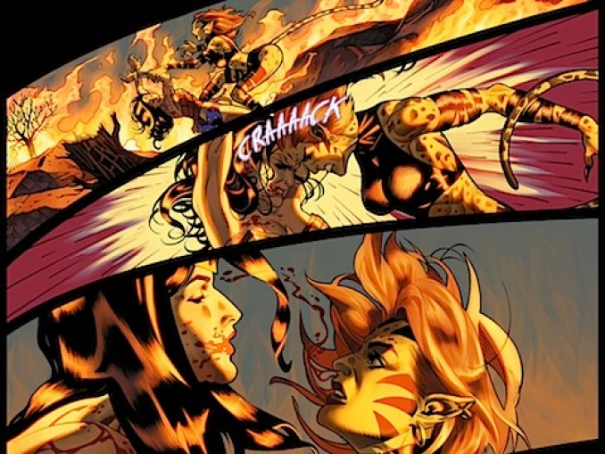 Diana and Cheetah fight
