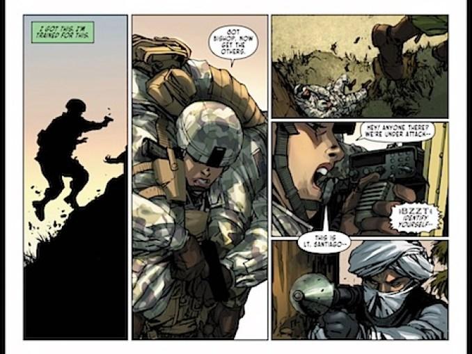 Santiago saves her comrade