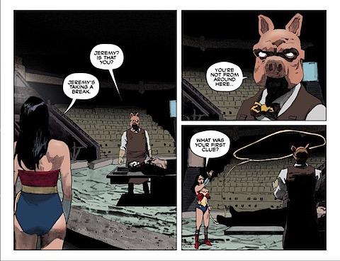 Wonder Woman lassos the bad guy