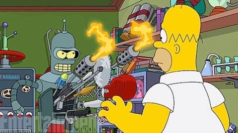 The Simpsons Futurama crossover