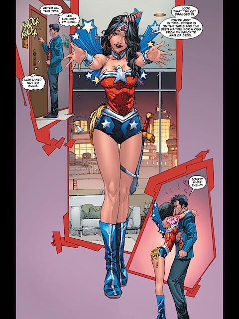 Lois dressed as Wonder Woman