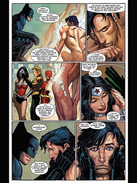 Wonder Woman takes a peak