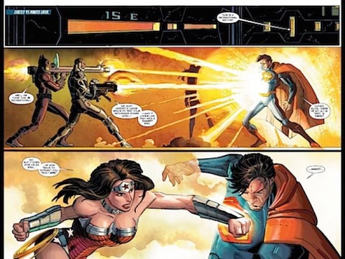 Wonder Woman punches Superman