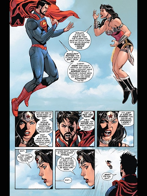 Superman and Wonder Woman fight