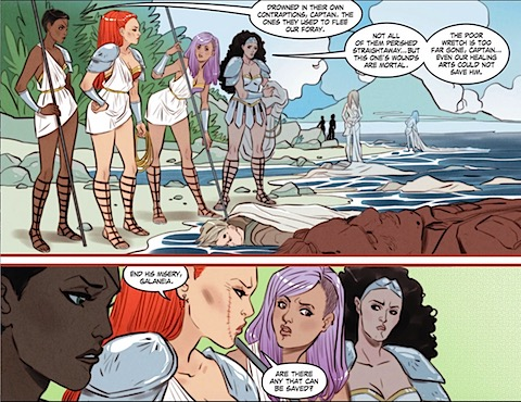 Marguerite Sauvage's Amazons