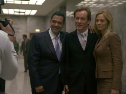 James Woods and Jeri Ryan in Shark