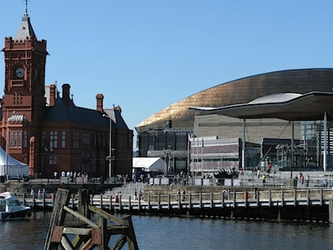 The TARDIS on the Wales Millennium Centre