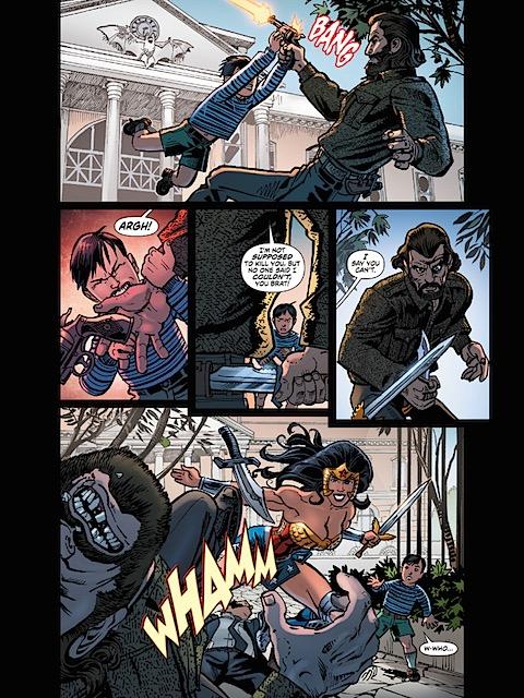 Wonder Woman saves Bruce Wayne