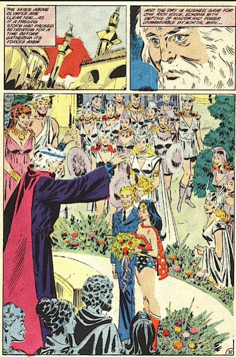Wonder Woman and Steve Trevor get married