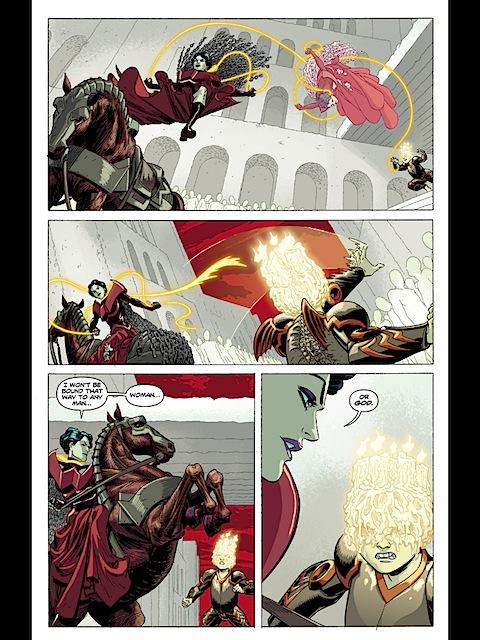 Wonder Woman escapes