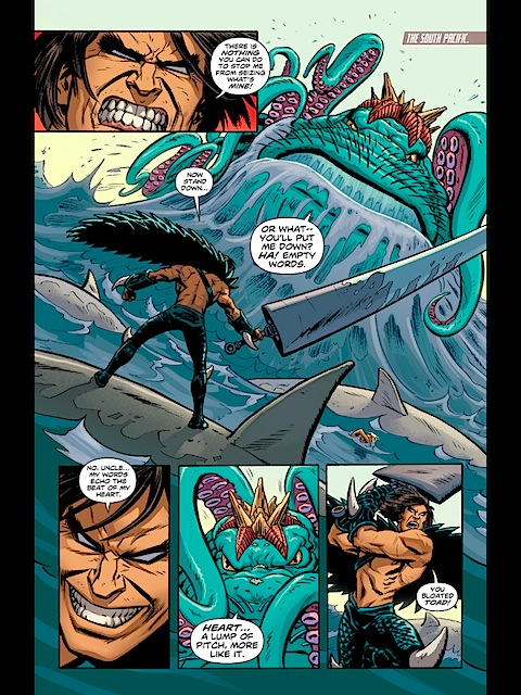 The First Born and Poseidon continue to fight