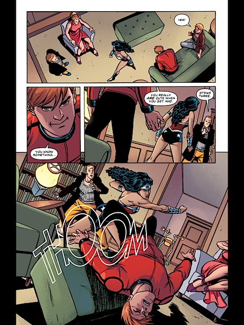 Wonder Woman punches Orion