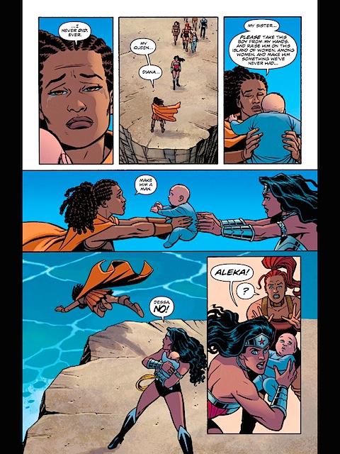 Diana has to save a baby