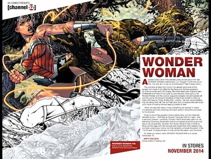 A clip from Wonder Woman #36