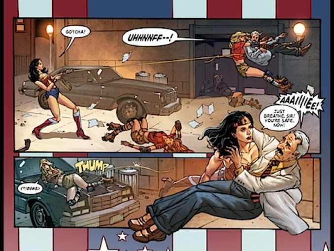Wonder Woman saves the defector