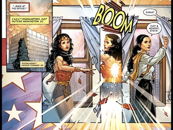 Wonder Woman changes back to Diana Prince
