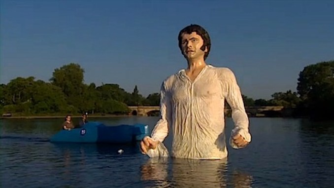 A statue of Colin Firth as Mr Darcy