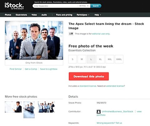 iStock has Unfinished Business