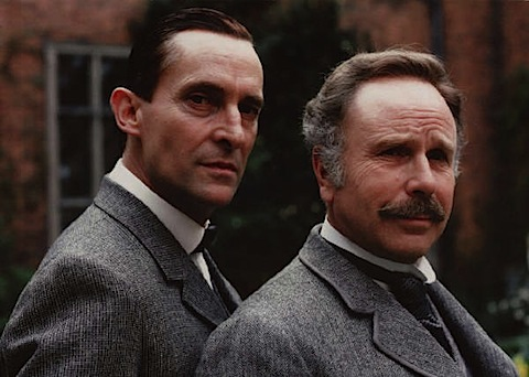 Jeremy Brett with Edward Hardwicke