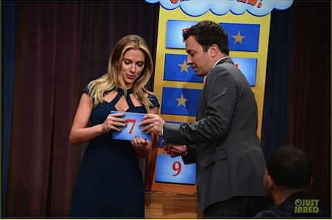 Scarlett Johansson plays charades on Jimmy Fallon's show