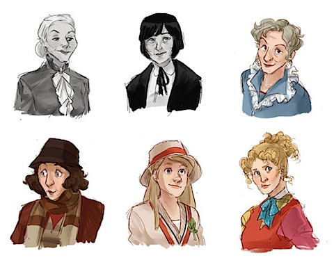 The first six female Doctors