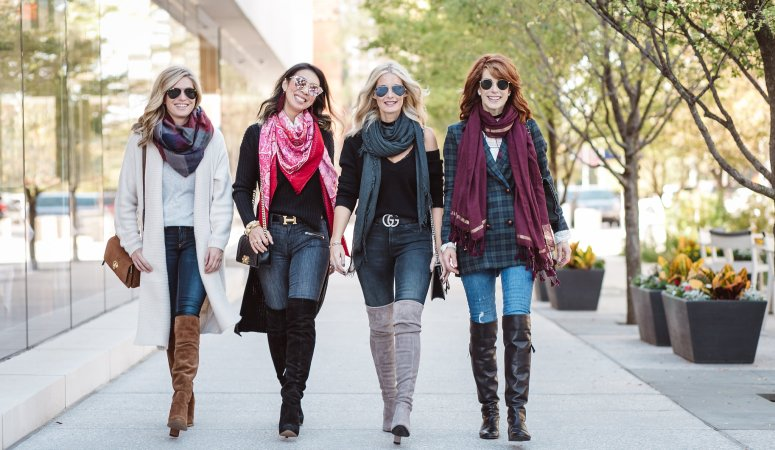 CHIC AT EVERY AGE- OTK BOOTS AND SCARVES