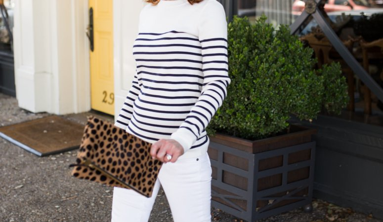 STRIPED SWEATER AND ESPADRILLES