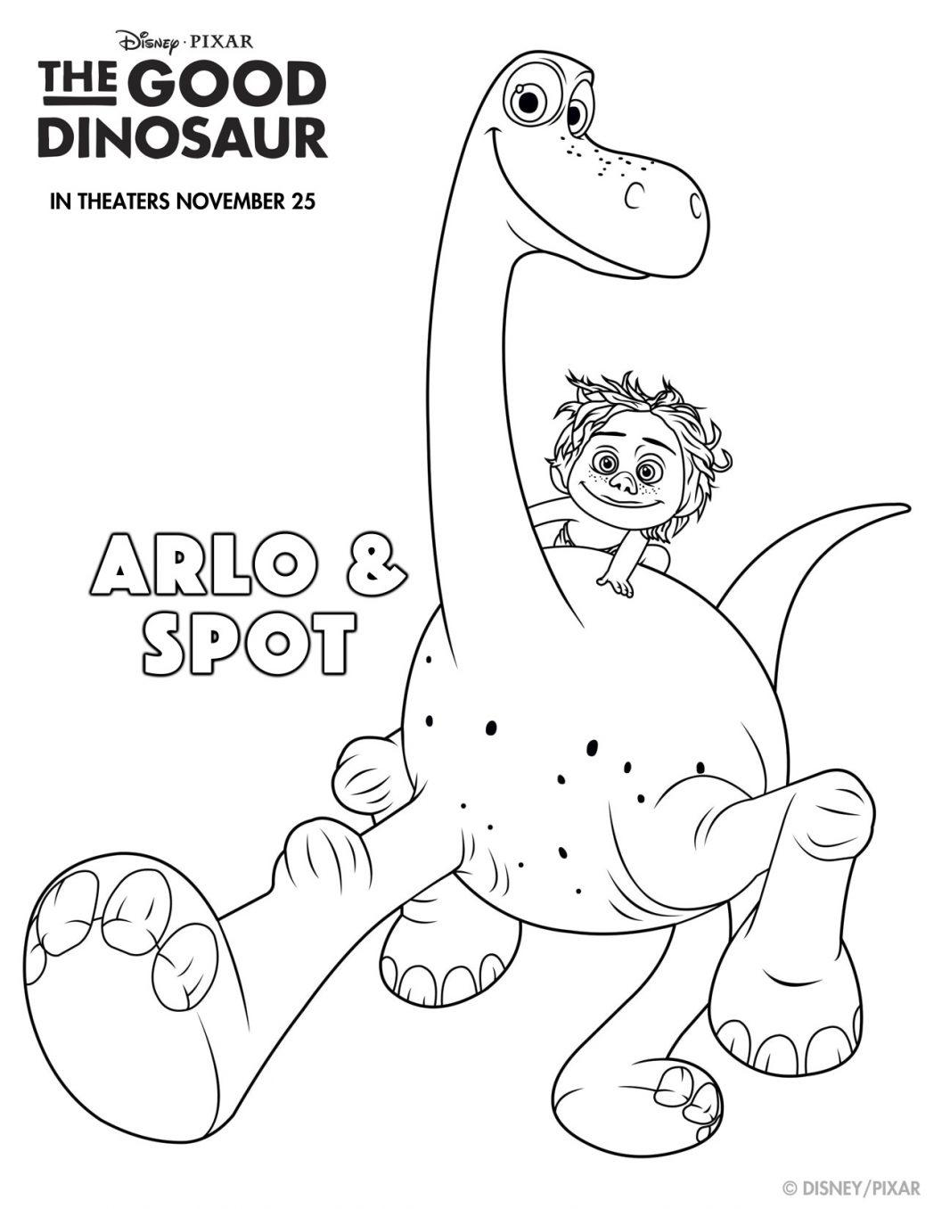 The Good Dinosaur Coloring Sheets And Fun