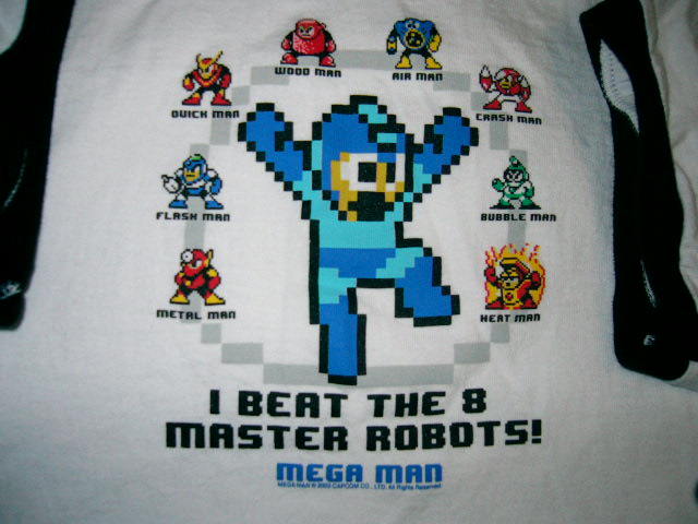 The original Mega Man in shirt form