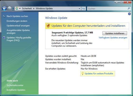 Vista Update