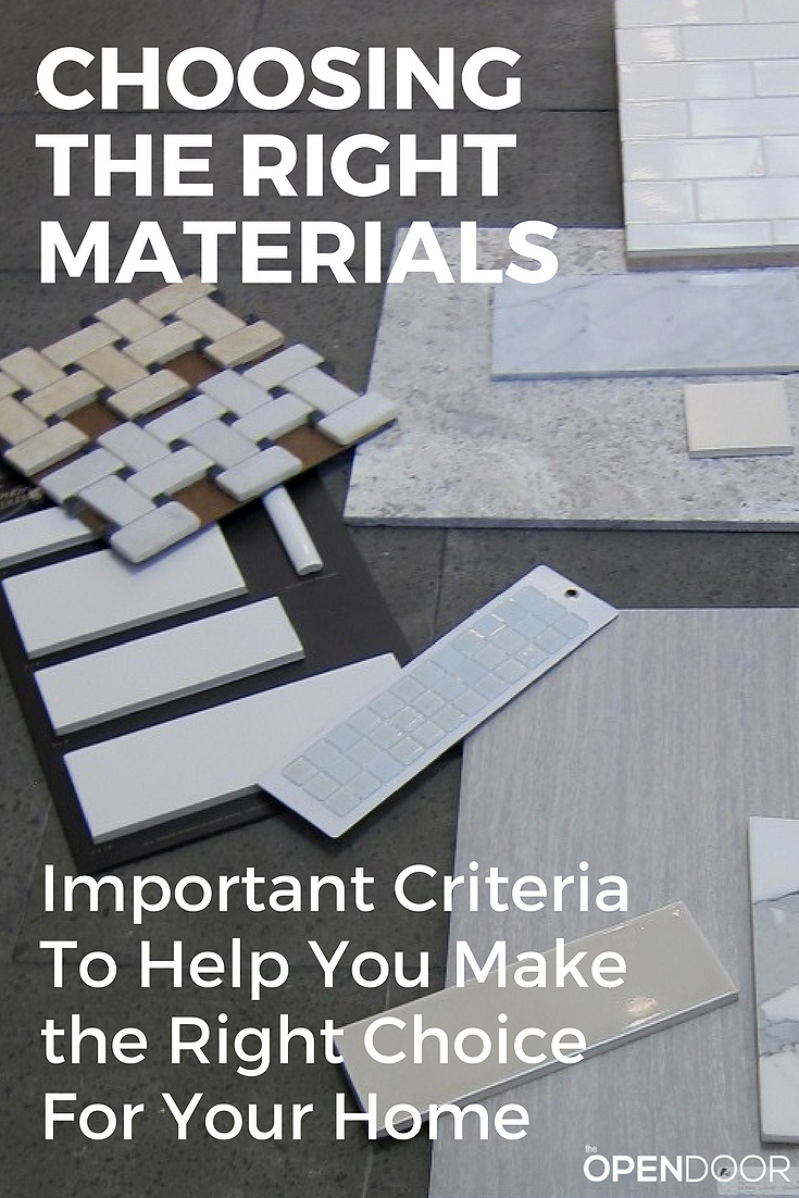 How to Choose the Right Construction Materials & Products For Your Home