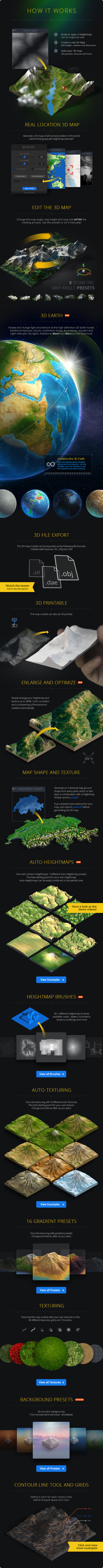 3D Map Generator - Atlas - From Heightmap to real 3D map - 1