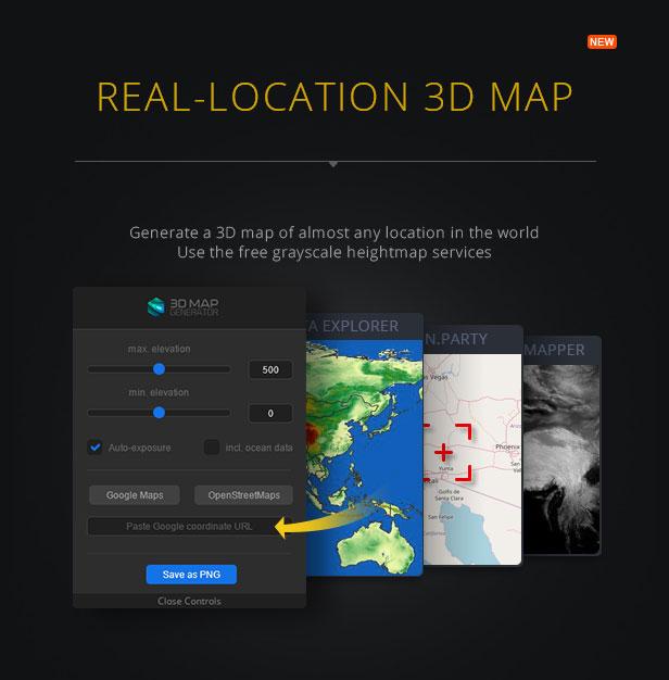 3D Map Generator - Terrain from Heightmap - 2