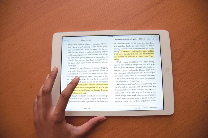 Open textbooks can be updated online on a constant basis. - Phoebe Lim