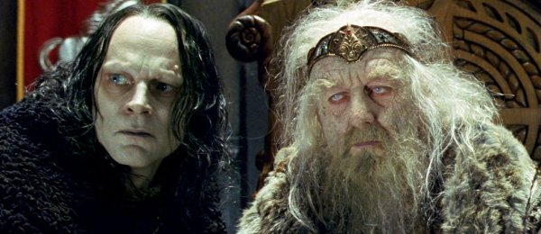 Wormtongue and King Theoden in The Lord of the Rings:  The Two Towers