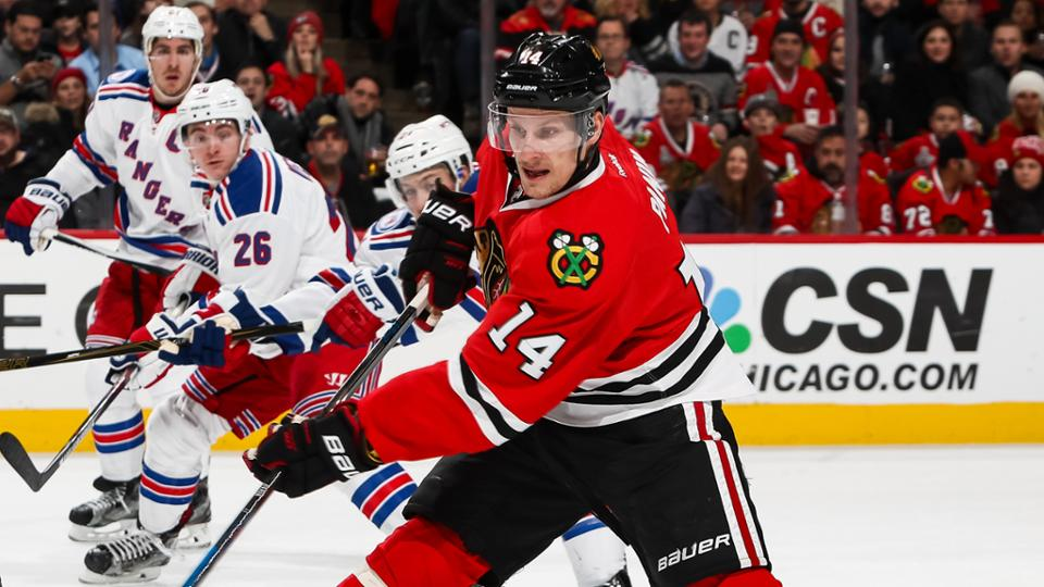 Blackhawks squander two-goal lead in OT loss to Lightning