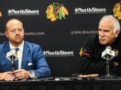 The Rink bowmanandquenneville-e1522955191942 ANALYSIS: Blackhawks make it all but official—The Rebuild is on rebuild Quenneville Colliton Bowman Blackhawks Barry Smith